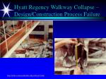 hyatt regency walkway collapse design construction process failure