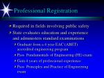 professional registration