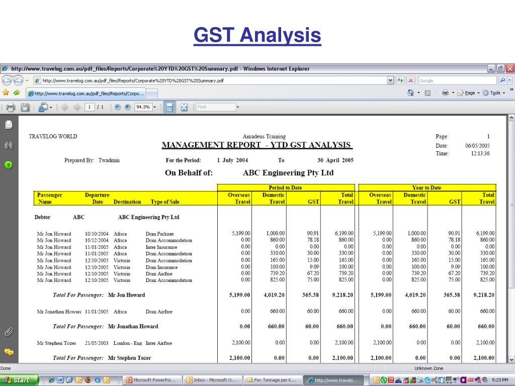 GST Analysis