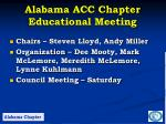 alabama acc chapter educational meeting