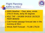 flight planning kapa to kslc