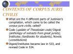 contents of corpus juris civilis12