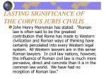 lasting significance of the corpus juris civilis15