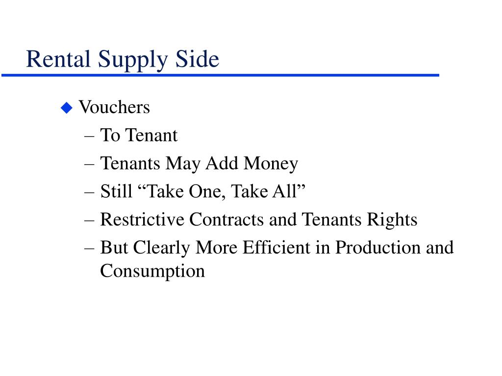 Rental Supply Side