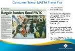 consumer trend matta travel fair