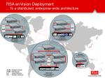 rsa envision deployment to a distributed enterprise wide architecture