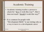 academic training