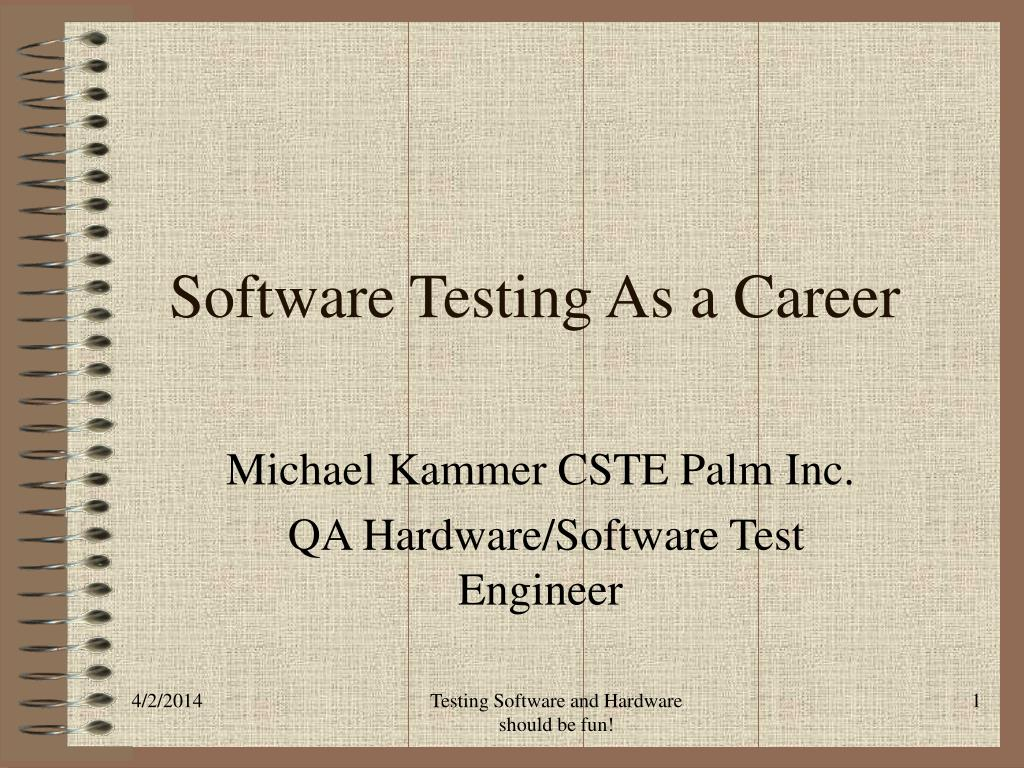 software testing as a career l.