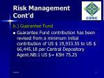 risk management cont d