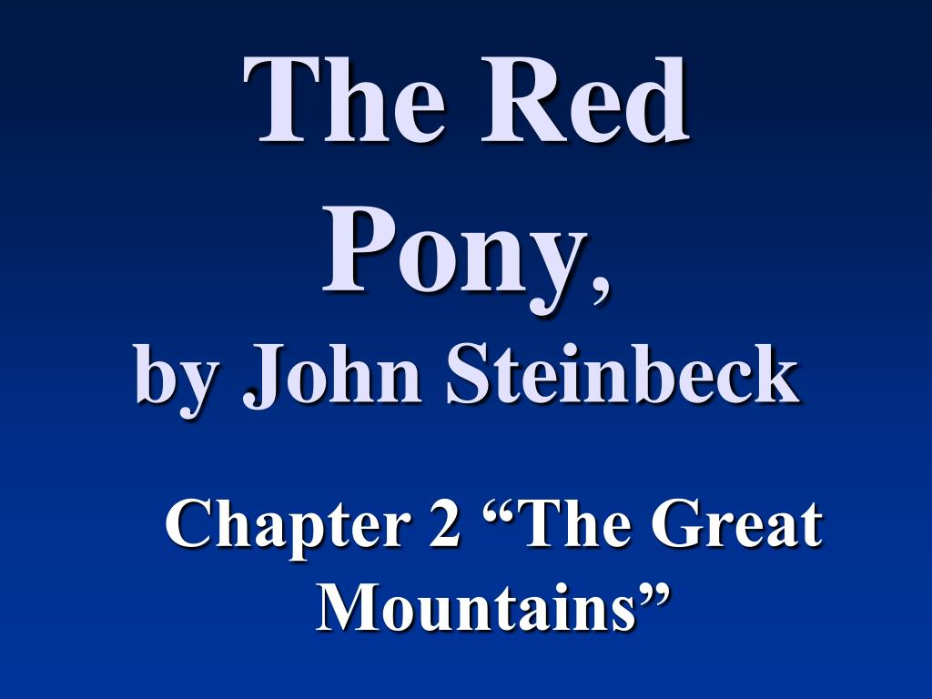 the red pony by john steinbeck l.