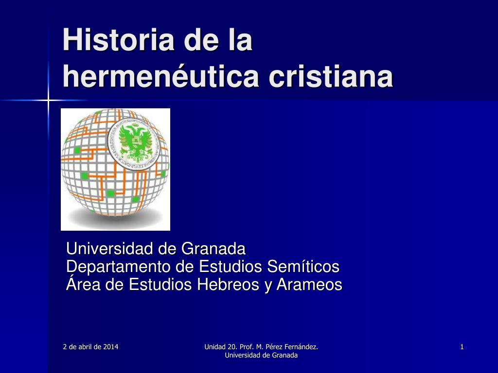 historia de la hermen utica cristiana l.