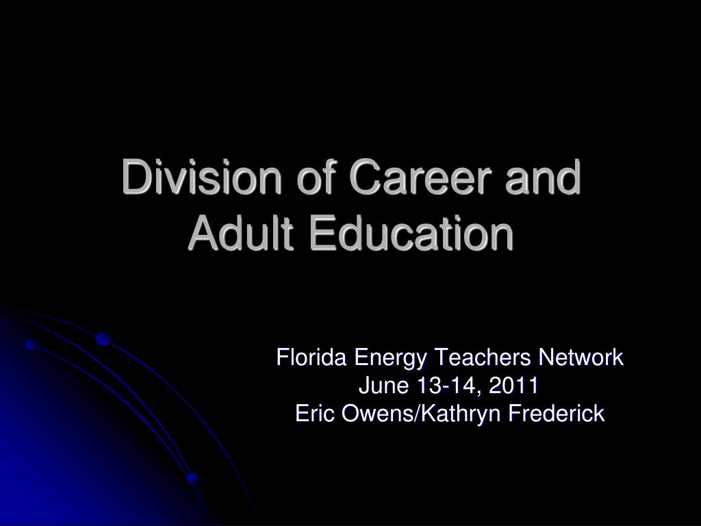 division of career and adult education l.