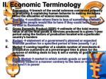 ii economic terminology