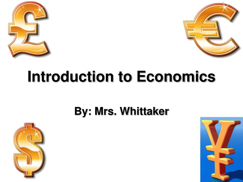 introduction to economics l.