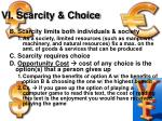 vi scarcity choice