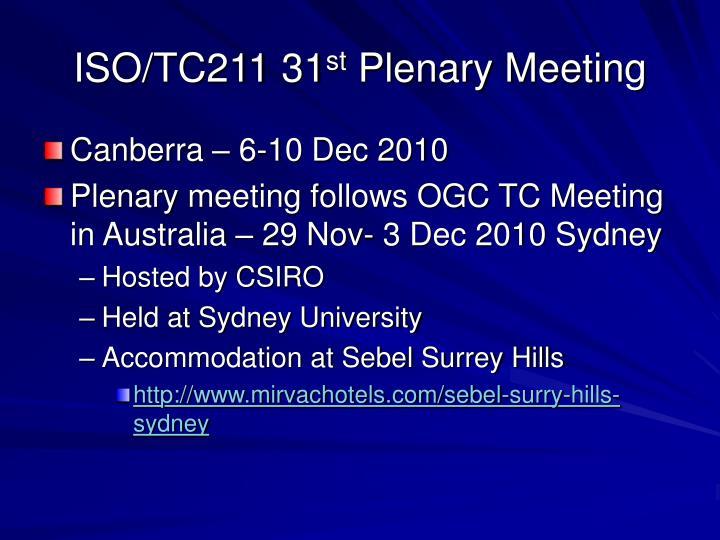 Iso tc211 31 st plenary meeting3