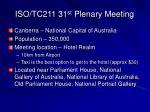 iso tc211 31 st plenary meeting7
