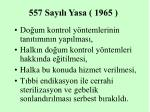 557 say l yasa 1965