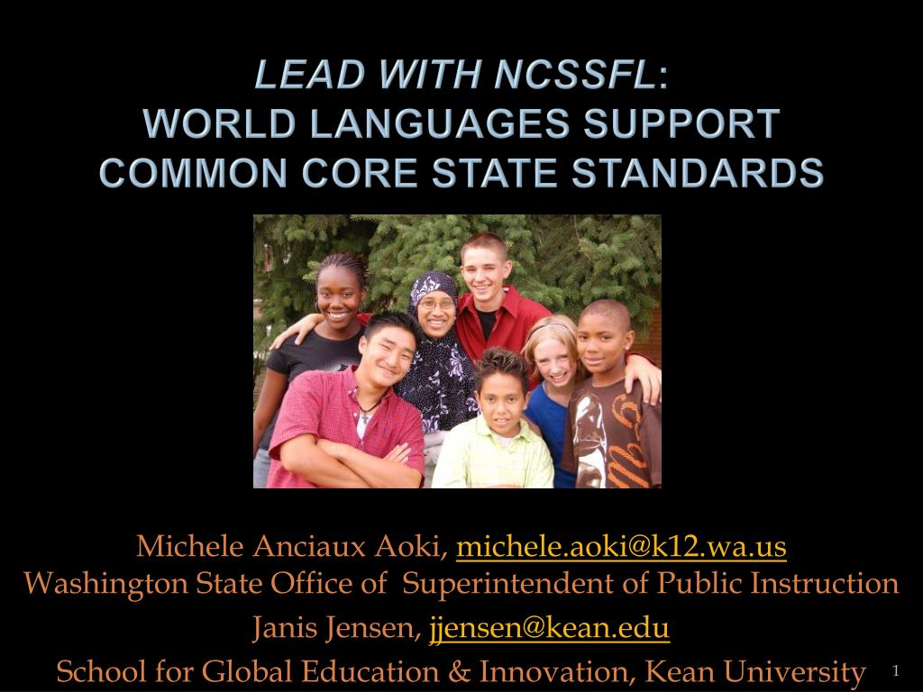lead with ncssfl world languages support common core state standards l.
