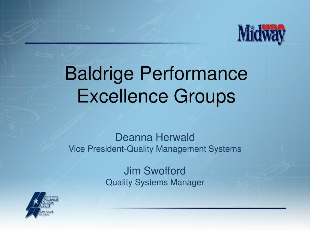 baldrige performance excellence groups l.
