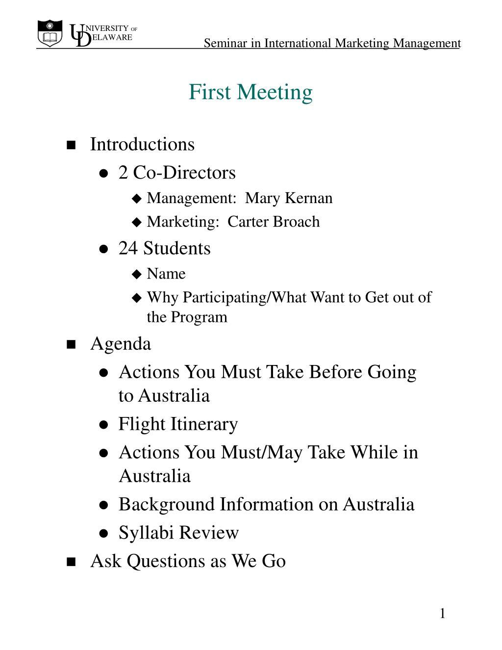 first meeting l.