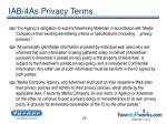 iab 4as privacy terms