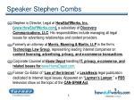 speaker stephen combs