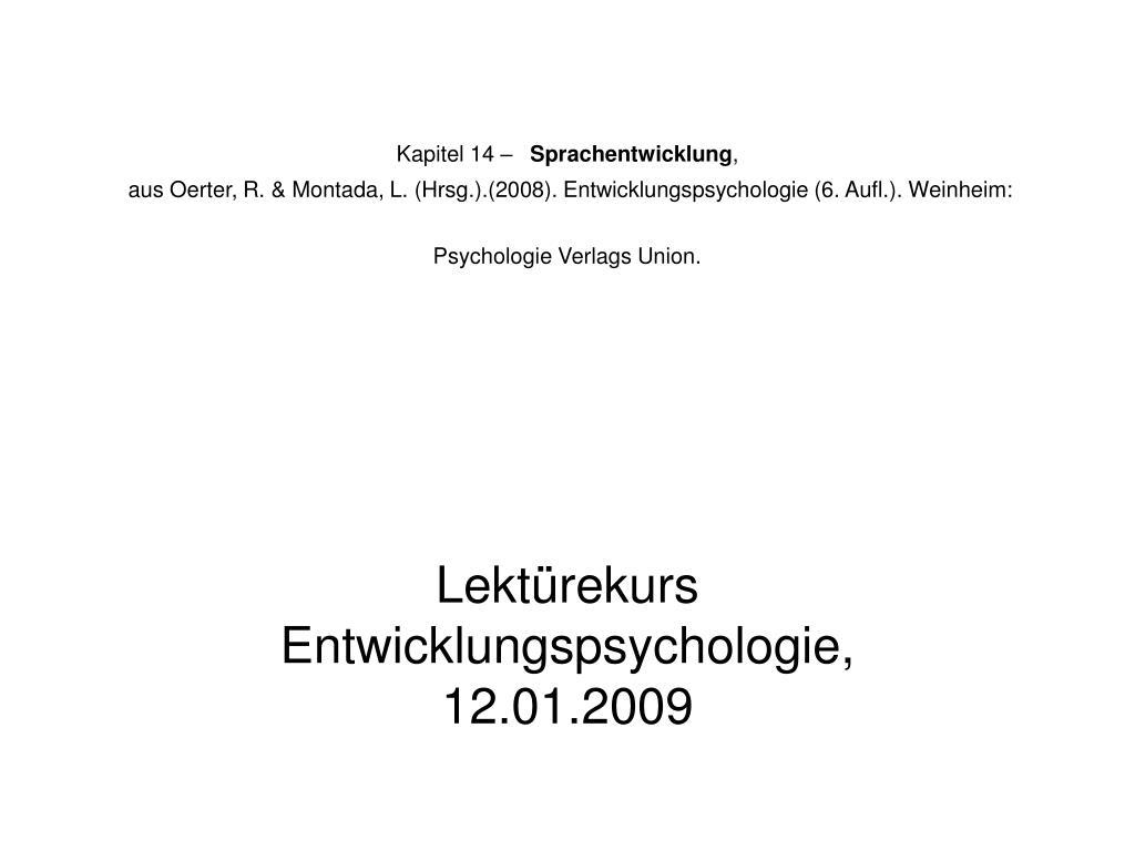 lekt rekurs entwicklungspsychologie 12 01 2009 l.