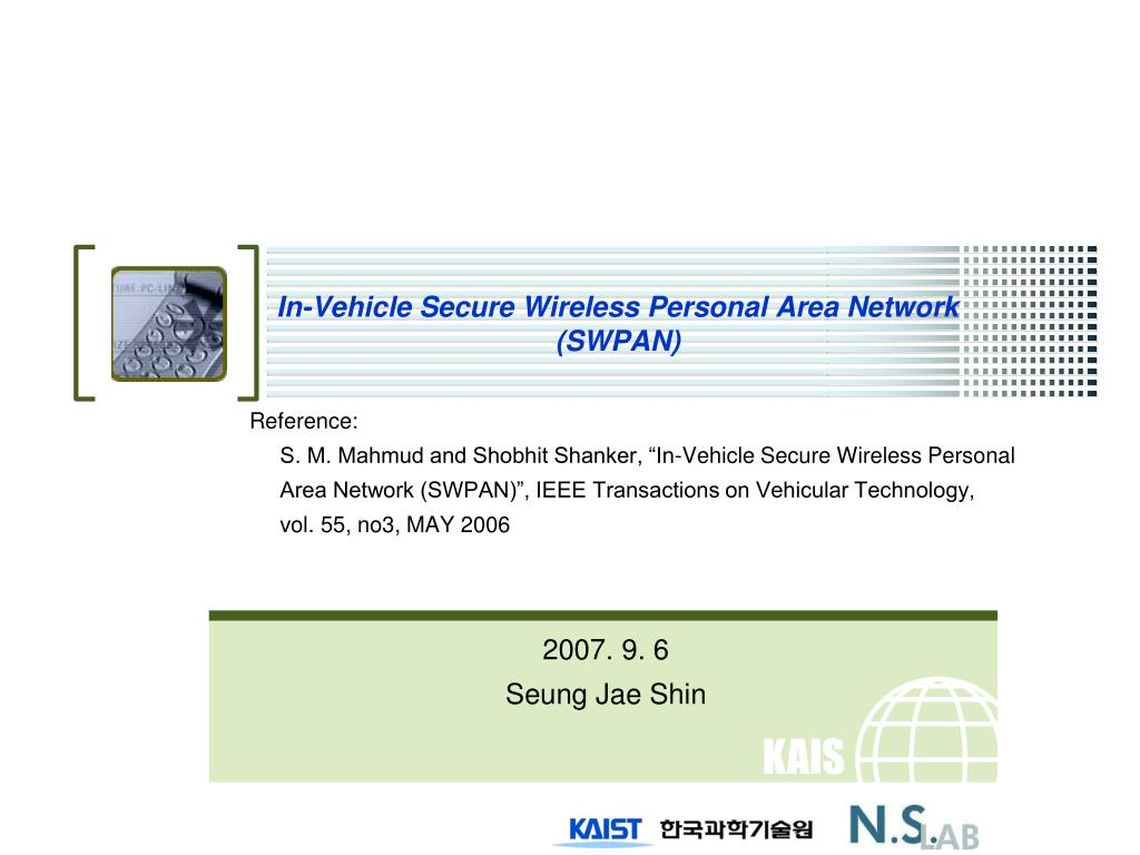in vehicle secure wireless personal area network swpan l.