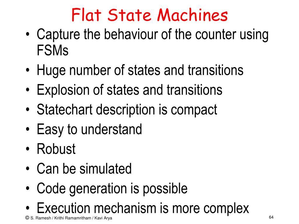 Flat State Machines