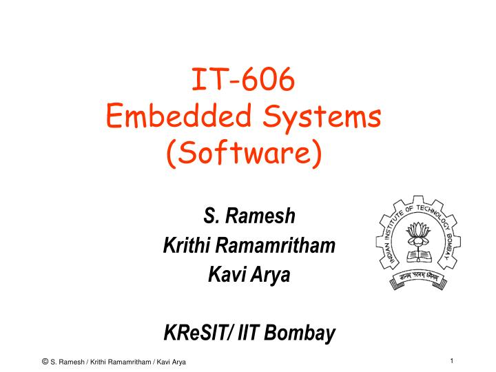 It 606 embedded systems software