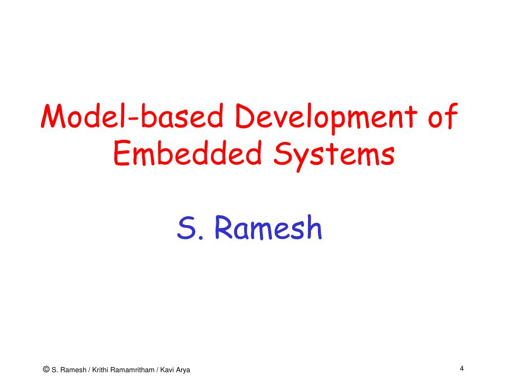 Model-based Development of