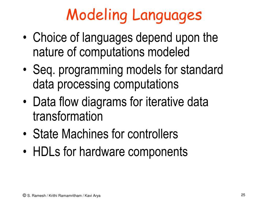 Modeling Languages