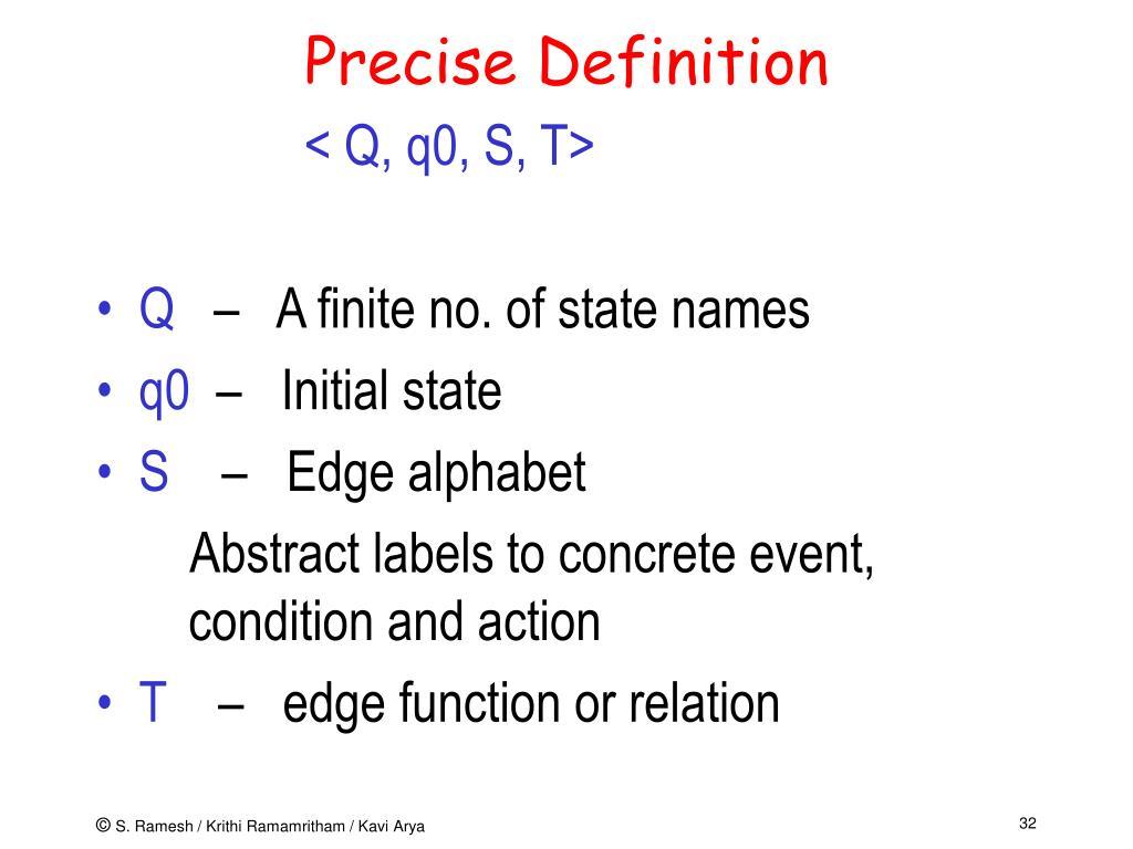 Precise Definition