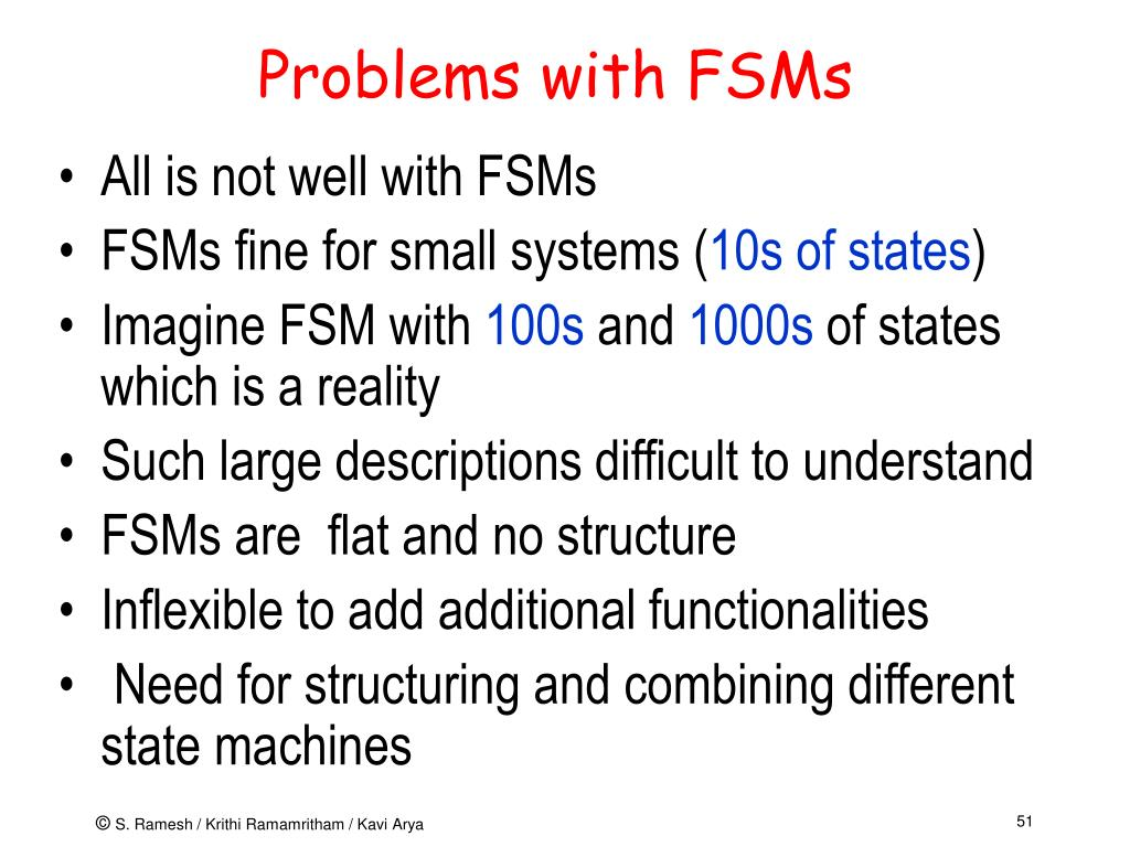 Problems with FSMs