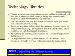 technology libraries