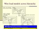 wire load models across hierarchy
