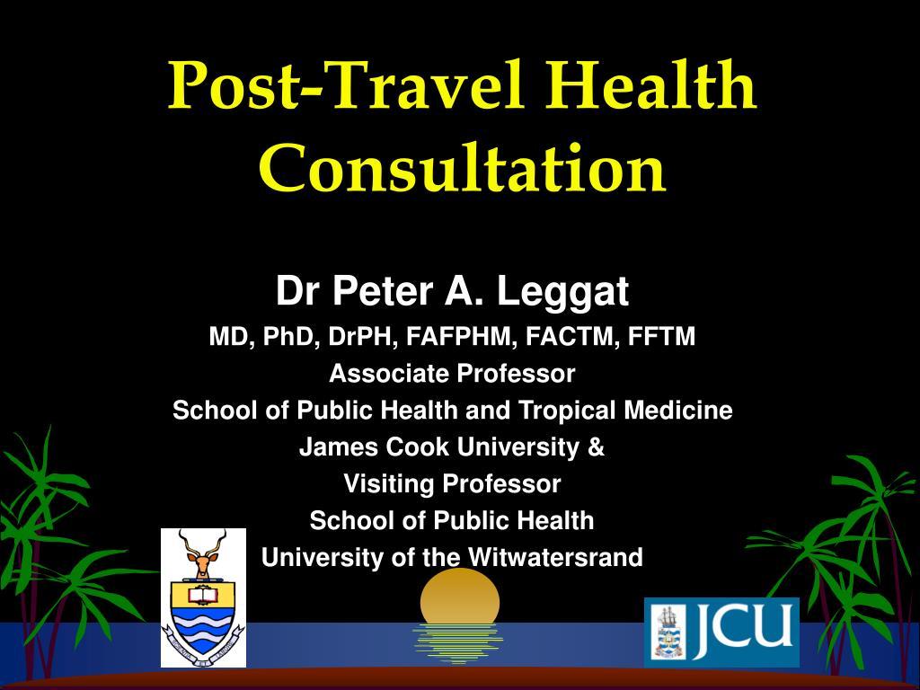 post travel health consultation l.