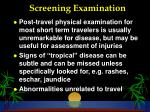 screening examination