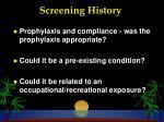 screening history26