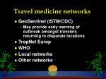 travel medicine networks