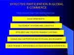 effective participation in global e commerce