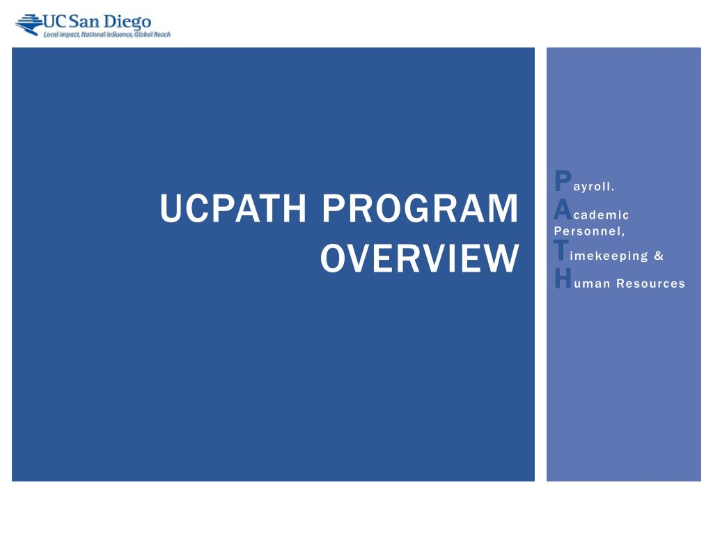 ucpath program overview l.