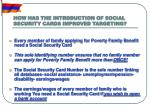 how has the introduction of social security cards improved targeting