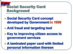 social security card background