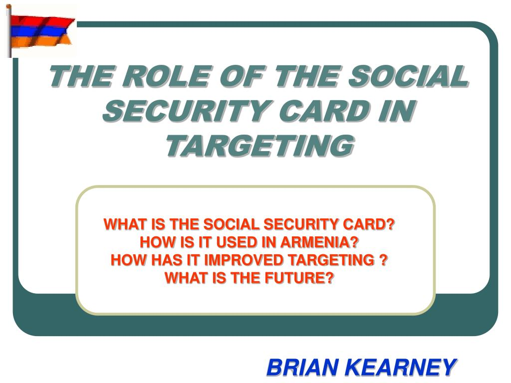 the role of the social security card in targeting l.