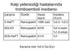 kalp yetersizli i hastalar nda tromboemboli insidans