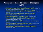acceptance based behavior therapies abt