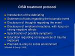 cisd treatment protocol