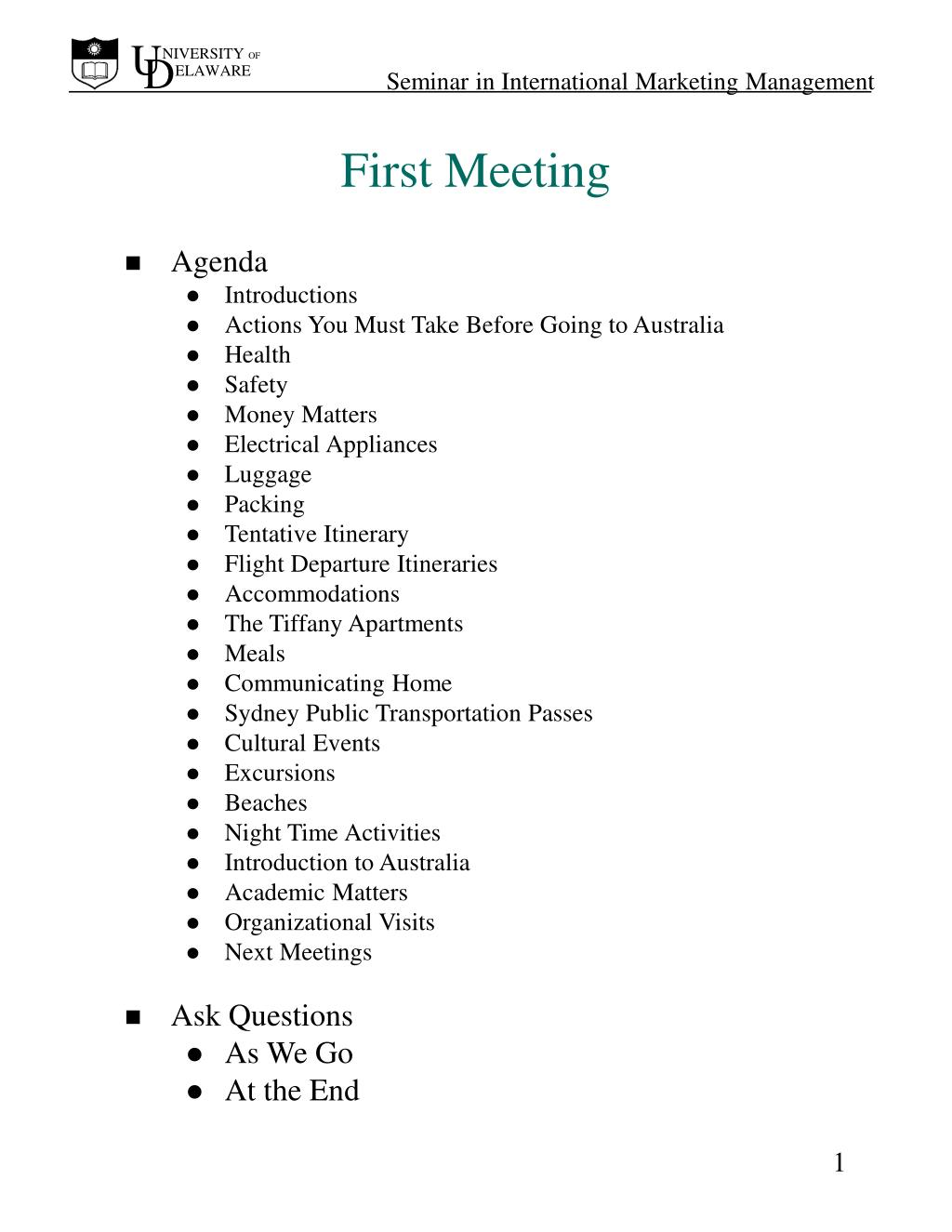 first meeting l.